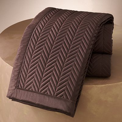 Jennifer Lopez bedding collection Sand Drift Quilted Coverlet
