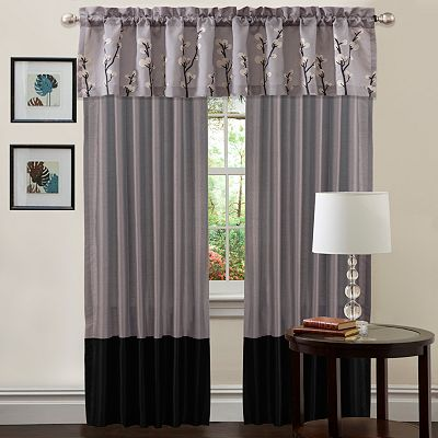 Lush Decor Cocoa Flower Window Treatments