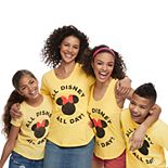 "Disney's Mickey & Minnie Mouse ""All Disney All Day"" Graphic Tops by Family Fun"