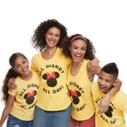 """Disney's Mickey & Minnie Mouse """"All Disney All Day"""" Graphic Tops by Family Fun"""