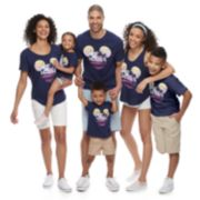 Disney's Mickey Mouse Navy Blue Graphic Tops by Family Fun