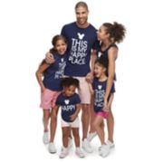 """Disney's Mickey Mouse & Minnie Mouse """"Happy Place"""" Graphic Tops by Family Fun"""