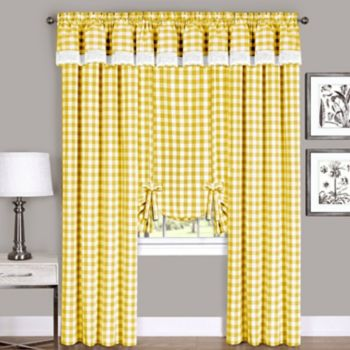 Buffalo Check Window Curtain Treatments