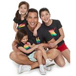 Family Fun Rainbow Pride Design Graphic Tops