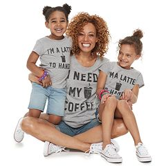 Family Fun Mommy & Me 'Coffee' & 'Latte' Graphic Tees