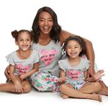 "Jammies For Your Families Mommy & Me ""Love You"" Top & Floral Bottoms Pajama Set by Cuddl Duds"