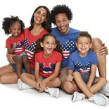 Disney's Mickey & Minnie Mouse Americana Graphic Tops by Family Fun
