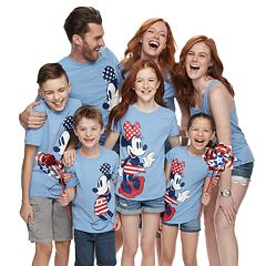 Disney's Mickey & Minnie Mouse Stars & Stripes Graphic Tops by Family Fun