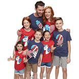 Family Fun Americana Icons Graphic Tops