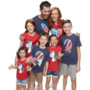 Family Fun Americana Icons Graphic Tops