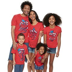 Family Fun Americana Food Graphic Tops