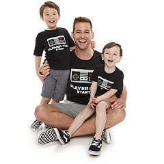 Family Fun Daddy & Me 'Player Start' Graphic Tees