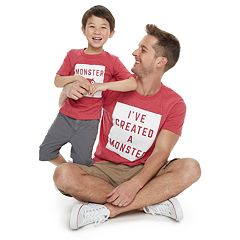 eacb1eac Family Fun Daddy & Me 'Monster' Graphic Tees
