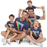 Family Fun Pride Rainbow Graphic Tops
