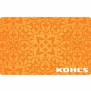 Orange Filigree Gift Card