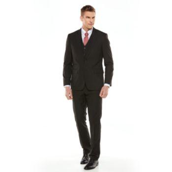Savile Row Striped Black Suit Separates