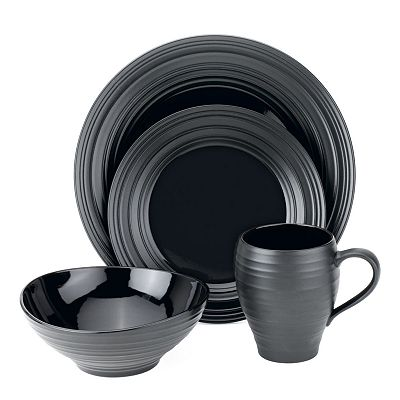 Mikasa Swirl Black Round Collection