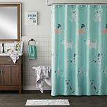 Saturday Knight, Ltd. Scribble Pup Shower Curtain Collection