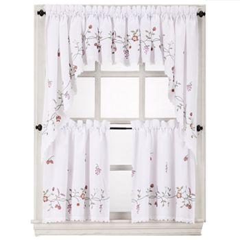 White kitchen curtains drapes window treatments furniture decor kohl 39 s - Kohls kitchen curtains ...