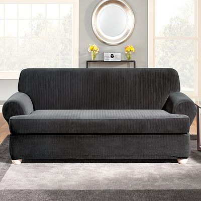 Sure Fit Stretch Pin-Striped Slipcovers
