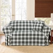 Sure Fit Faux-Suede Plaid Slipcovers
