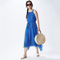 Women's Spotted in Blue Outfit