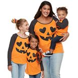 Family Fun Halloween Jack-o'-lantern Graphic Tops