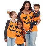 Family Fun Halloween Jack-o'-lantern Graphic Tops