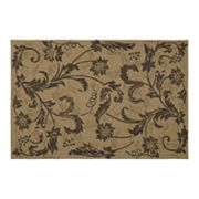 Home and Porch Rivoli Floral Rug