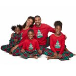 Jammies For Your Families Red Plaid Merry Christmas Family Pajamas Collection