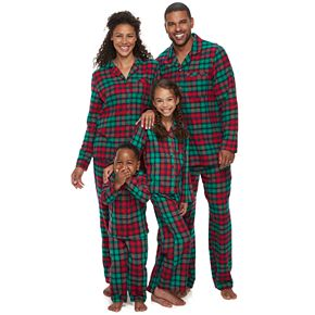 Jammies For Your Families Red Plaid Notch Family Pajamas Collection
