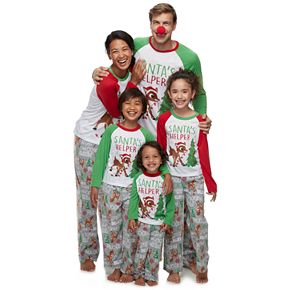 Jammies For Your Families Rudolph the Red-Nosed Reindeer Family Pajamas Collection