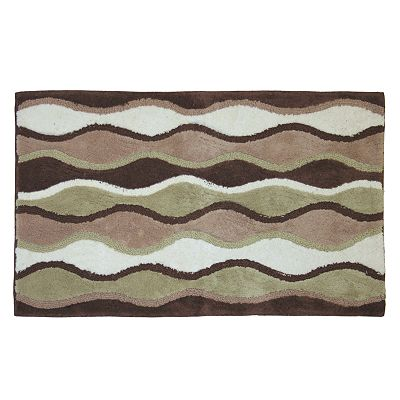 Ultra Spa Magic Plush Ripple Bath Rug