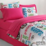 Veratex Peace & Love Reversible Bedding Coordinates