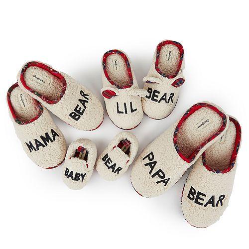 Dearfoams Bear Family Slipper Collection