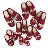 Dearfoams Bear Family Plaid Slipper Collection