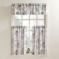No 918 Hoot Tier Kitchen Curtains