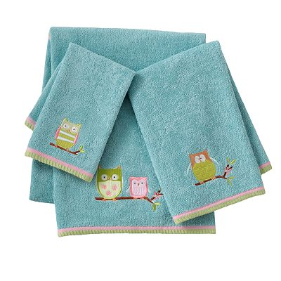 Jumping Beans Owl Friends Bath Towels