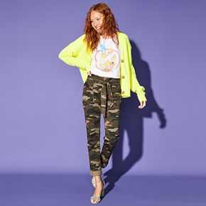 Vylette Belted Camo Outfit
