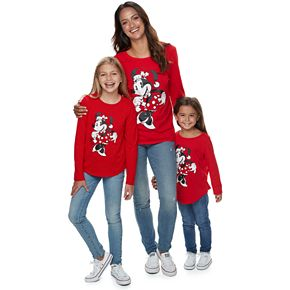 Disney's Mickey Mouse & Minnie Mouse Christmas Graphic Tees by Family Fun