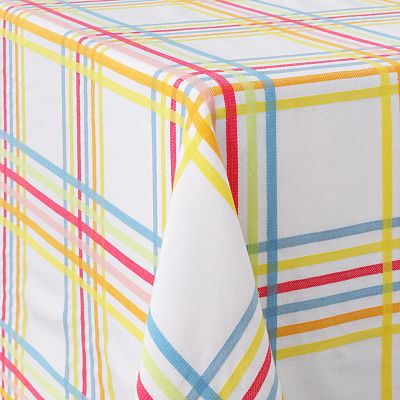 Croft and Barrow Plaid Tablecloth