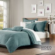 Madison Park Cole 5-pc. Corduroy Duvet Cover Set