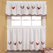 Saturday Knight Ltd. Wake Up Tier Kitchen Curtain Pair