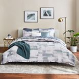 Scott Living Oasis Blocked Watercolor Comforter Set & Throw Pillow Collection