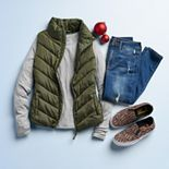 Juniors' Winter Puffer Vest Outfit