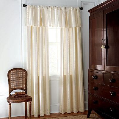 Chaps Dumont Damask Striped Lined and Interlined Window Treatments