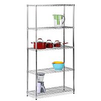 Honey-Can-Do Chrome Adjustable Shelving Unit