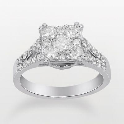 Endless Diamond Round-Cut Diamond Engagement Ring in 14k White Gold