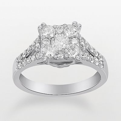 Endless Diamond 14k White Gold Diamond Ring