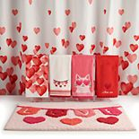 Celebrate Valentine's Day Together Heart Shower Curtain Collection